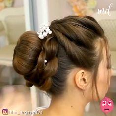 Prom Hairstyles For Short Hair, Long Hair Ponytail, Elegant Hairstyles, Bride Hairstyles, Braids For Short Hair, Latest Hairstyles, Indian Bun Hairstyles, Curly Hair, Ponytail Hairstyles