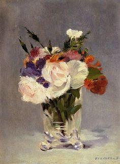 Edouard Manet : Bouquet en vase de cristal, 1882