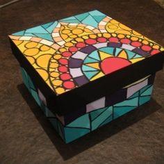 Vitromosaico Ideas, Collie, Tea Box, Wallpaper Pictures, Mosaic Art, Cube, Decoupage, Flora, Decorative Boxes