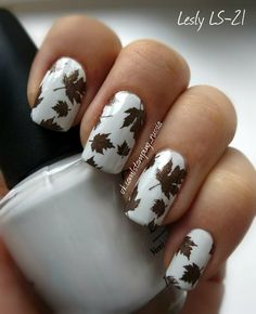 Lesly Stamping Nail Art  | See more at http://www.nailsss.com/colorful-nail-designs/2/
