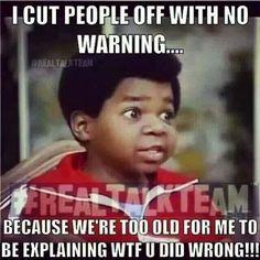 Cut em off like tht !