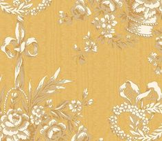 Interior Place - Gold Basket Toile Wallpaper, $21.60 (http://www.interiorplace.com/gold-basket-toile-wallpaper/)