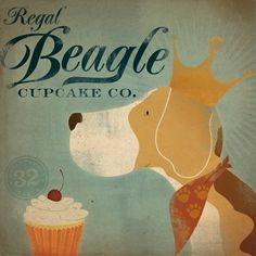 Beagles AND cupcakes, what more could you ask for?