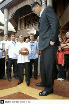 Philippines president meeting Yao Ming