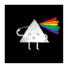 Dark Side of the Moon print by I Love Doodle