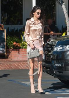 Kendall Jenner Wearing Pink Outfit | POPSUGAR Fashion