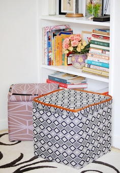 DIY: custom storage ottoman