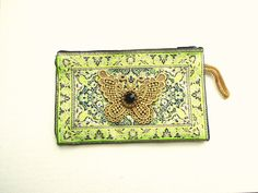 Butterfly small purse - Boho tapestry pouch - Coin pouch with zipper - Small bohemian purse - Kilim Oyster card, bus pass kilim pouch