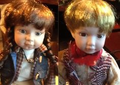 Vanessa Ricardi PAIR OF porcelain dolls.  Vintage by BuyfromGroovy