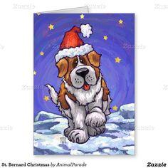 St. Bernard Christmas Stationery Note Card