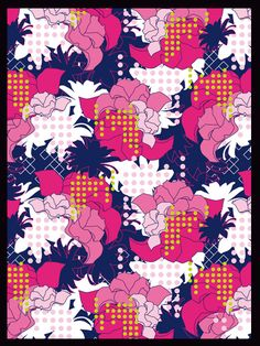 Textile pattern design - Allover Marlène Dorgny
