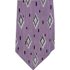 Amazing Wide 1950s Vintage Necktie Deep Purple, Lavender and White