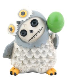 Snowy Owl Furry Bones Skellies Figurine [8143S] - $7.99 : Mystic Crypt, the most unique, hard to find items at ghoulishly great prices!