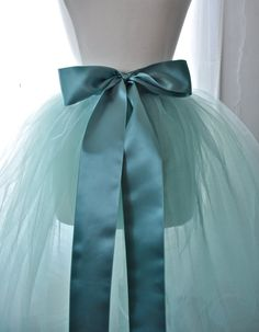 What about a tulle tutu wedding skirt?~ ;3