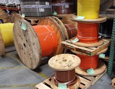 Reels of 600MCM THHN BR/OR/YE #ace #acewire #thhn #wire #cable #reels #simpull #happyveteransday