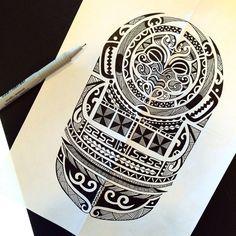 tatouage tribal dessin polynésien maori