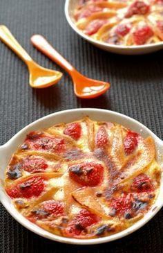 Gratin de fruits, dessert d'été à la fraise, recette au melon