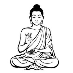 GBP - Diy Black Wall Sticker Meditating Buddha Decal Removable Art Mural Home & Garden Art Buddha, Buddha Drawing, Buddha Painting, Buddha Decor, Buddha Tattoo Design, Buddha Tattoos, Hindu Tattoos, Symbol Tattoos, Black Wall Stickers