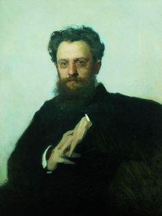 1879 - Adrian Viktorovich Prahov portrait, art historian and art critic - Ivan Kramskoy