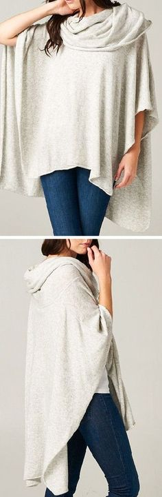 Cozy London Sweater Scarf in Soft Ashen ♥