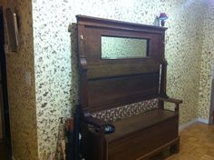 This use to be an old upright grand piano. It was going to cost to much to fix, so I made this out of it.