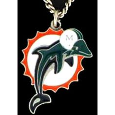 NFL Logo Chain Necklace - Miami Dolphins