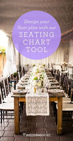 Sign up to create your seating chart & for access to other easy-to-use wedding planning tools! (Jackie)