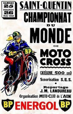 The Great Charm of Vintage Cars - Popular Vintage Bike Poster, Motorcycle Posters, Motorcycle Art, Vintage Motocross, Vintage Racing, Vintage Cars, Vintage Stuff, Retro Vintage, Logos Vintage