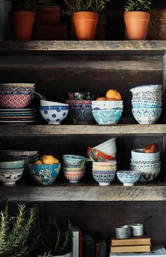 Mismatched Anthropologie saucers, mugs and dessert plates. Not your Grandmother\'s china. #fairfieldgrantswishes