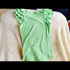 Light green shirt sleeve top Very cute with jeans. IZ Tops Tees - Short Sleeve