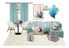 """Breath of Air"" by mugglebornprincess ❤ liked on Polyvore featuring interior, interiors, interior design, home, home decor, interior decorating, Lichtenberg, Somerset Bay, Skyline and Moe's"