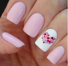 Pink and white with multi colored heart