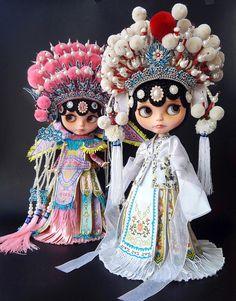 Luxury Collection Anniedollz Peking Opera Custom Blythe Hello Dolly, Big Eyes, Doll Face, Margaret Keane, Beautiful Dolls, Blythe Dolls, Cute Dolls, Doll Accessories, Fashion Dolls