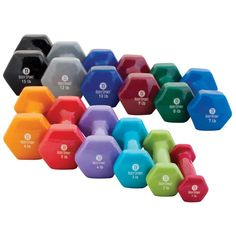 Body Sport Vinyl Dumbbells are made of solid metal coated with vinyl. Their hexagonal shape prevents rolling and can be cleaned easily. These dumbbels are used to strengthen and tone muscles, build stamina and speeds up metabolic rate.
