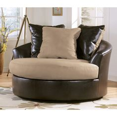 Ashley Furniture | Ashley Furniture Industries Stone Oversized Swivel  Accent Chair By .