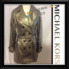 Michael SALE Kors beautiful jacket NEW!firm$ Michael Kors NEW long jacket, lined, buckle belt✨✨✨✨ SEE tag for material KORS Michael Kors Jackets & Coats Trench Coats