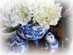 Lynnes Gifts From the Heart: ~ Garden Ornaments On the Dining Room Table ~