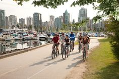 The fabulous, scenic Stanley Park Seawall is the most famous bike trail / walking path in Vancouver. (It's also fully paved and accessible to all.)