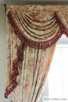 Pink Floral Swags and Jabots Valance Curtain Drapes  http://www.celuce.com/p/260/pink-floral-swags-and-jabots-valance-curtain-drapes