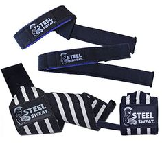 Steel Sweat 18 Wrist Wraps and 22 Lifting Straps 2 Pairs for Weight Lifting Crossfit Powerlifting Bodybuilding Heavy Duty for best wrist support ** You can get additional details at the image link.