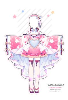 Chronoling Adopt // closed by Tenshilove on DeviantArt Anime Drawings Sketches, Cute Drawings, Character Outfits, Character Art, Arte 8 Bits, Anime Girl Dress, Drawing Anime Clothes, Fashion Design Drawings, Anime Costumes