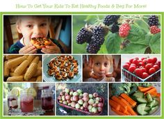 How To Get Kids To Eat Healthy Foods & Beg For More! / http://www.deniseinbloom.com/get-kids-to-eat-healthy-and-beg-for-more/
