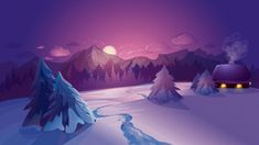 This HD wallpaper is about snow-covered field with moon and mountain range in background painting, Original wallpaper dimensions is file size is Sunset Wallpaper, Painting Wallpaper, Iphone Wallpaper, Desktop Wallpapers, 1080p Wallpaper, Sunrise Landscape, Landscape Walls, Vector Picture, Good Phone Backgrounds