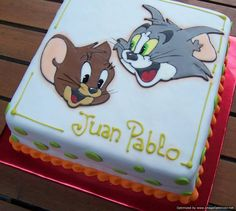 Tom And Jerry Cake On Pinterest | Fondant Cake