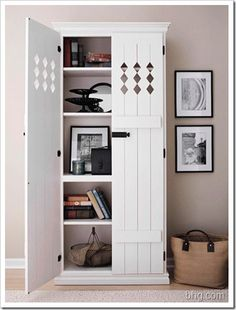 Book shelf  with doors, this is a great idea!