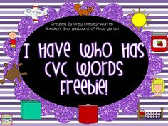 CVC Word I Have Who Has FREEBIE!  This is a perfect activity for your morning meeting!