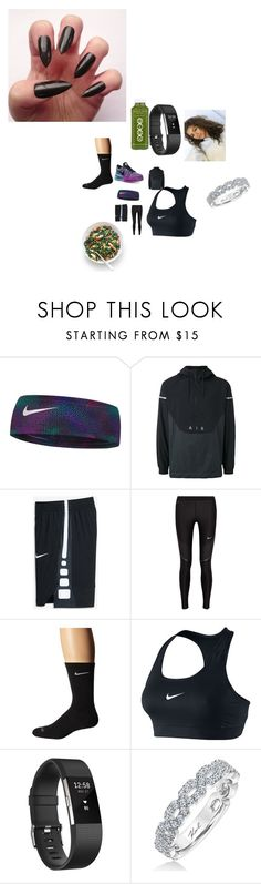 """""""Untitled #3912"""" by fashionicon67 ❤ liked on Polyvore featuring NIKE, Fitbit and Karl Lagerfeld"""