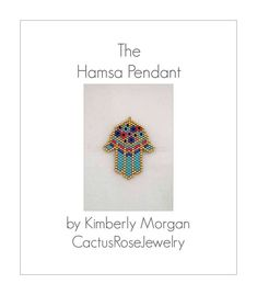 Miriam's Garden Hamsa, PDF contains row by row instructions with color graphs for pendant only