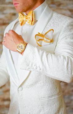 S by Sebastian Dinner Jacket White Paisley