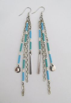 Chain Dangle Seed Bead Earrings by pattimacs on Etsy  with <3 from JDzigner www.jdzigner.com